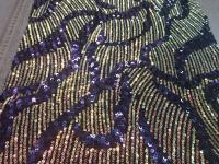 Пайетки-декор фиолетовый (синий)