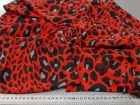 Шифон леопардовый принт - красный