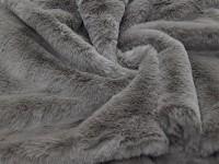 Мех коричнево-серый
