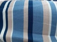 Лен цветная полоска - синий