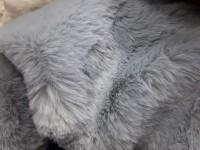 Мех серо-голубой