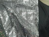 Пайетка - серебро (черный)