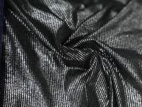 Трикотаж - металлик  черный