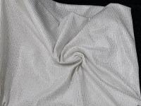 Трикотаж - металлик белый