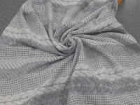 Трикотаж-косы серый
