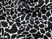 Коттон-сатин леопард черный