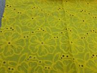 Батист-вышивка Д12752 - желтый