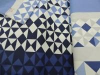 Треугольники сине-голубые