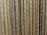 Кисея-люрекс - желтое золото