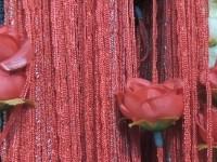 Кисея цветы - красный