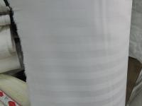 Сатин полоска - белый