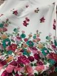Креп - цветы ( молочный фон)
