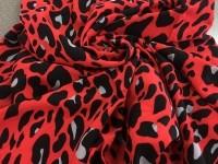 Твил-район леопардовый - красный