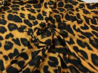 Шифон - леопардовый желтый