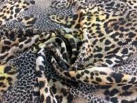 Шифон леопардовый принт - рыжий